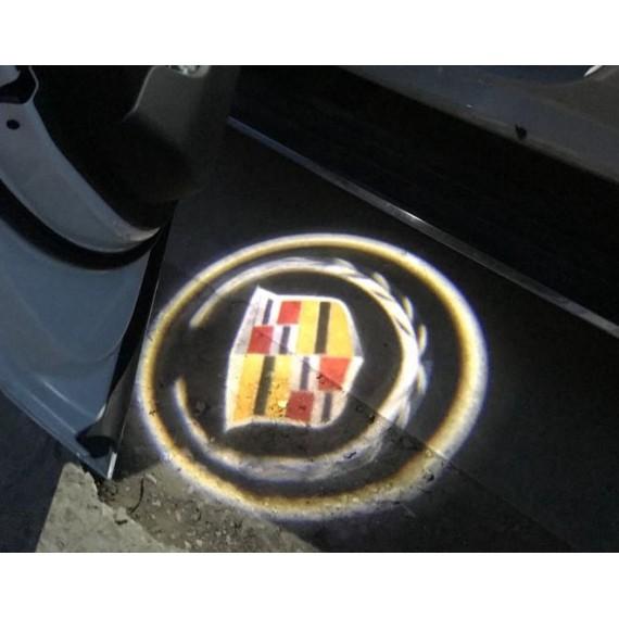 Подсветки дверей Optima с проекцией логотипа Cadillac в штатное место