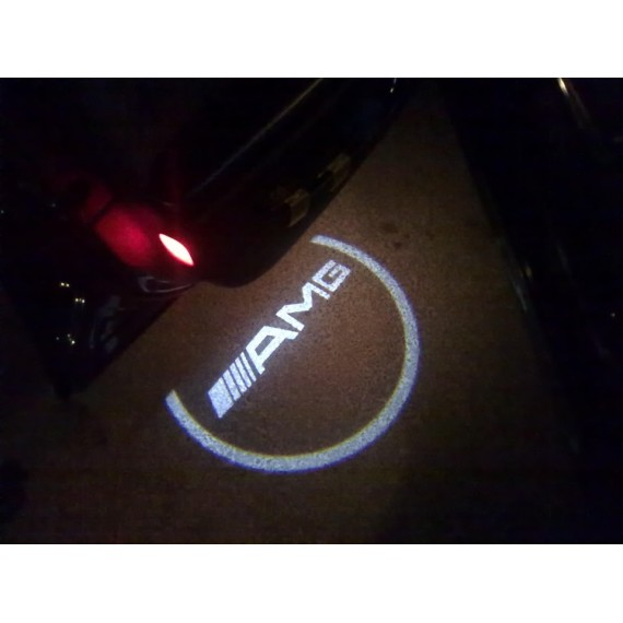 Подсветки дверей Optima с проекцией логотипа MERCEDES AMG C-class в штатное место