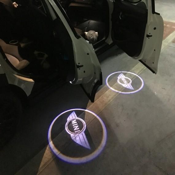 Подсветки дверей Optima с проекцией логотипа MINI в штатное место