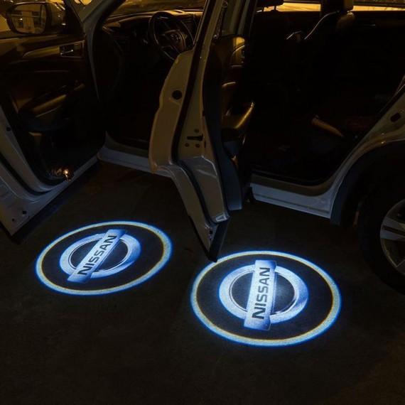 Подсветки дверей Optima с проекцией логотипа Nissan в штатное место