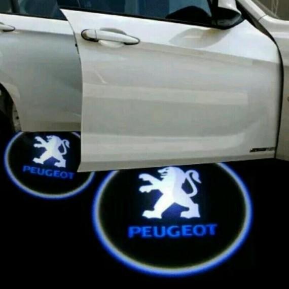 Подсветки дверей Optima с проекцией логотипа Peogeot в штатное место