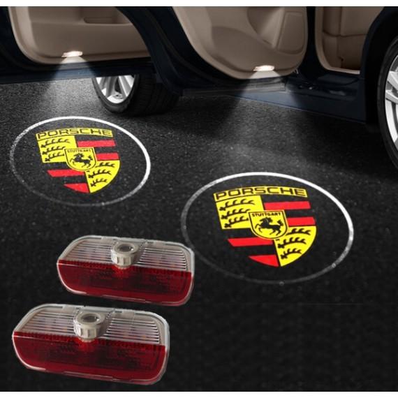 Подсветки дверей Optima с проекцией логотипа Porsche в штатное место