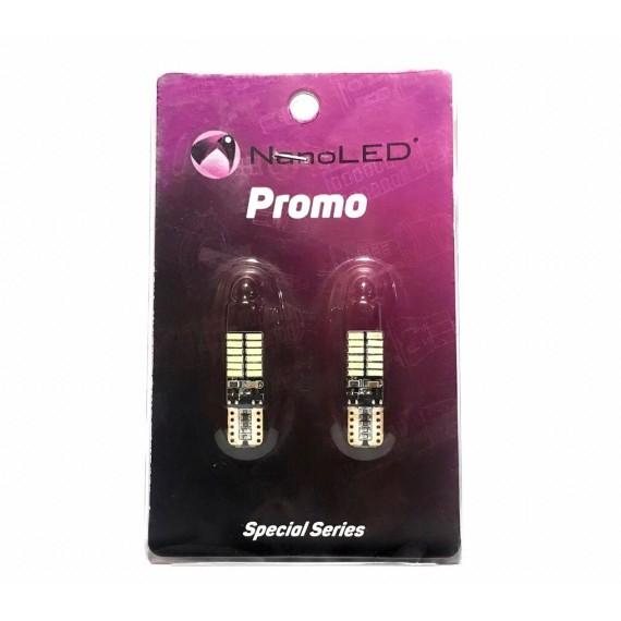 Светодиодные лампы NANOLED W5W 24 SMD комплект (2шт.)